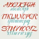 Алфавит в щетке каллиграфии. иллюстрация штока