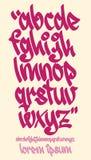 Алфавит граффити - рукописный - Vector строчный шрифт Стоковая Фотография RF