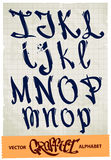 Алфавит граффити Стоковые Фото