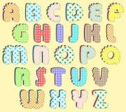 Алфавит жизнерадостных детей Стоковое Изображение