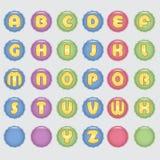 Алфавит жизнерадостных детей Стоковые Изображения RF