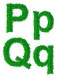 Алфавит зеленой травы Стоковые Изображения RF