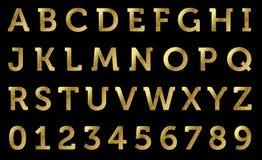 алфавит золотистый Стоковая Фотография