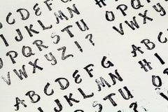 Алфавит избитой фразы Стоковые Изображения RF