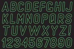 Алфавит и номера света Стоковое Фото