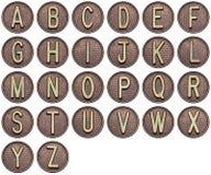 Алфавит кнопки Стоковая Фотография