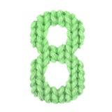 Алфавит 8 8, красит зеленый цвет Стоковая Фотография RF