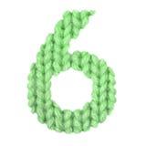 6 6 алфавит, красит зеленый цвет Стоковое Изображение