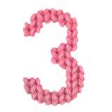 Алфавит 3 3, красит красный цвет Стоковое фото RF