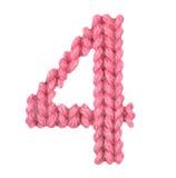 Алфавит 4 4, красит красный цвет Стоковое фото RF