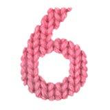 6 6 алфавит, красит красный цвет Стоковое Изображение RF
