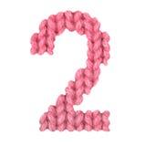 Алфавит 2 2, красит красный цвет Стоковое Изображение