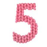 Алфавит 5 5, красит красный цвет Стоковое фото RF