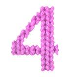 Алфавит 4 4, красит пинк Стоковая Фотография