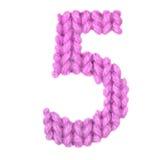 Алфавит 5 5, красит пинк Стоковые Изображения