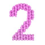 Алфавит 2 2, красит пинк Стоковая Фотография RF