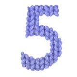 Алфавит 5 5, красит синий Стоковое Фото