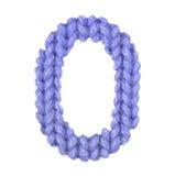 Алфавит 0, красит синий Стоковые Фото