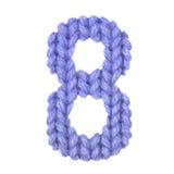 Алфавит 8 8, красит синий Стоковое фото RF