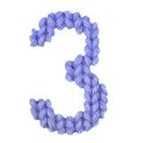 Алфавит 3 3, красит синий Стоковая Фотография