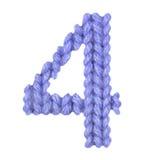 Алфавит 4 4, красит синий Стоковое Изображение