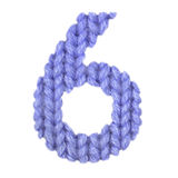 6 6 алфавит, красит синий Стоковые Изображения