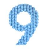 Алфавит 9 9, красит синь Стоковые Фото