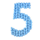 Алфавит 5 5, красит синь Стоковые Фото