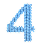 Алфавит 4 4, красит синь Стоковые Изображения