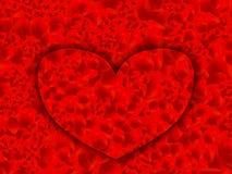 Алфавит красного цвета сердца Стоковая Фотография RF