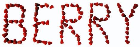 Алфавит кухни - ягода Стоковое фото RF