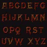Проутюживите ржавые письма, алфавит ржавчины металла vermilion Стоковые Фотографии RF