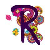 Алфавит нарисованный рукой Doodling Стоковая Фотография
