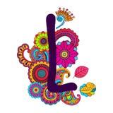 Алфавит нарисованный рукой Doodling стоковые изображения rf