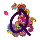 Алфавит нарисованный рукой Doodling стоковые изображения