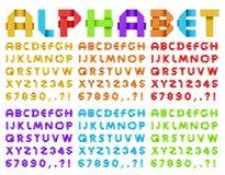 Алфавит от покрашенной бумаги Стоковое Изображение