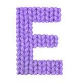 Алфавит письма e английский, красит пурпур Стоковые Изображения