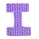 Алфавит письма i английский, красит пурпур Стоковая Фотография