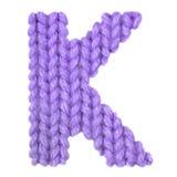 Алфавит письма k английский, красит пурпур Стоковая Фотография RF