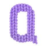 Алфавит письма q английский, красит пурпур Стоковое Изображение RF