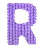 Алфавит письма r английский, красит пурпур Стоковая Фотография RF