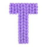 Алфавит письма t английский, красит пурпур Стоковая Фотография RF