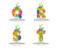 Алфавит помечает буквами логотип Стоковое Фото