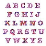 Алфавит прописных букв сердец Стоковое Изображение RF