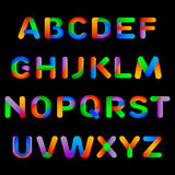 Алфавит радуги Красочные письма для детских книг бесплатная иллюстрация