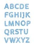 алфавит рукописный Стоковые Фотографии RF