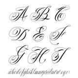 Алфавит стиля татуировки Стоковая Фотография