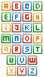Алфавит строительных блоков Стоковое Изображение