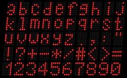 Алфавит, строчный красный цвет Стоковая Фотография