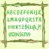 Алфавит сделанный вектора листьев Стоковая Фотография RF